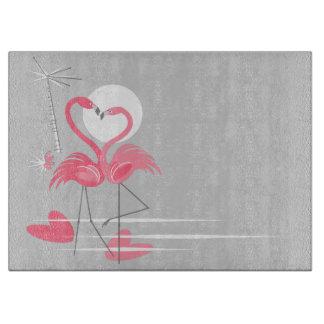 Flamingo Love Side cutting board