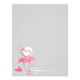 Flamingo Love Side letterhead