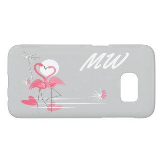 Flamingo Love Side Monogram Samsung Galaxy S7 Samsung Galaxy S7 Case