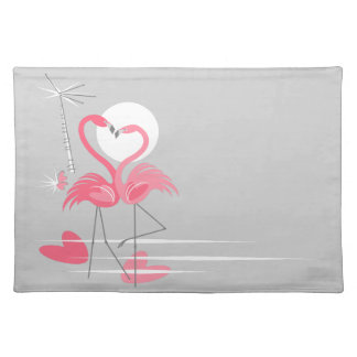 Flamingo Love Side placemat cloth