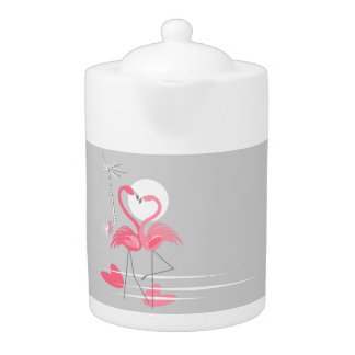 Flamingo Love Side teapot medium