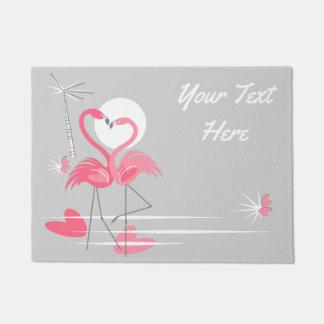Flamingo Love Side Text  doormat