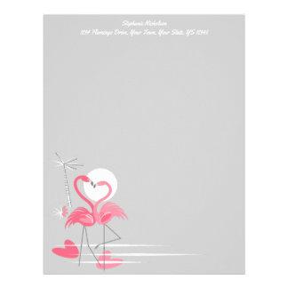 Flamingo Love Side Text letterhead