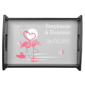 Flamingo Love Sides serving tray