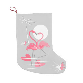 Flamingo Love stocking two-sided