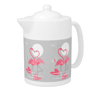 Flamingo Love teapot medium
