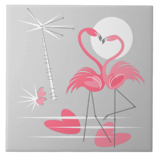 Flamingo Love tile