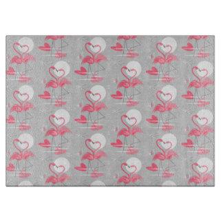 Flamingo Love Tiled cutting board