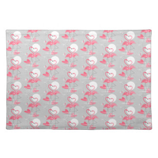 Flamingo Love Tiled placemat cloth