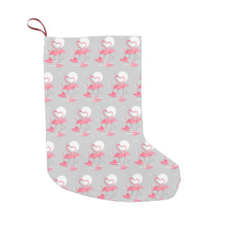 Flamingo Love Tiled stocking two-sided
