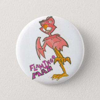 Flamingo Man Button