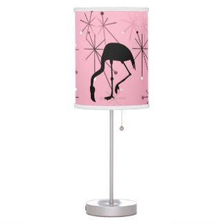 Flamingo Midcentury Modern Atomic Starburst Pink Table Lamp