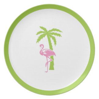 Flamingo & Palm Plate