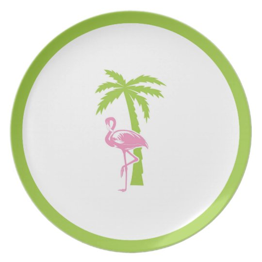 Flamingo & Palm Plate