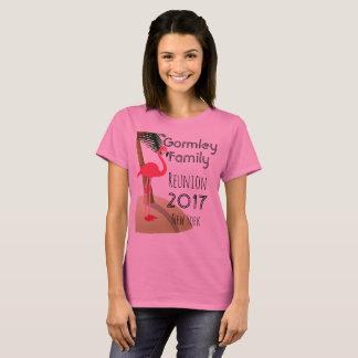 Flamingo Palm Tree Tropical Family Reunion Women T-Shirt