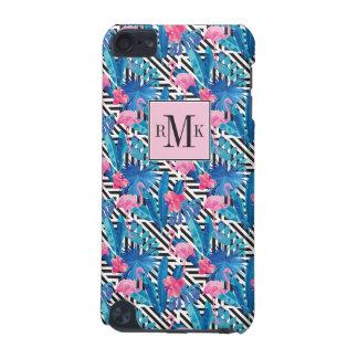 Flamingo & Palms on Geometric Pattern iPod Touch 5G Case