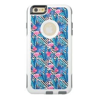 Flamingo & Palms on Geometric Pattern OtterBox iPhone 6/6s Plus Case