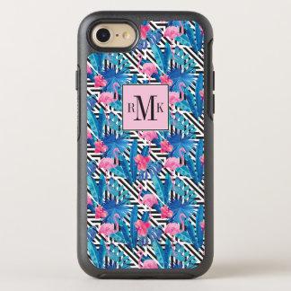 Flamingo & Palms on Geometric Pattern OtterBox Symmetry iPhone 8/7 Case