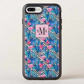 Flamingo & Palms on Geometric Pattern OtterBox Symmetry iPhone 8 Plus/7 Plus Case