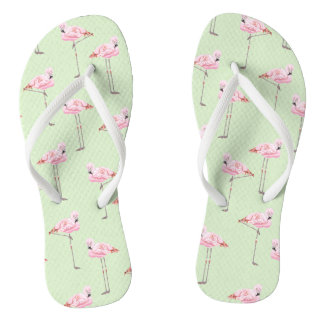 FLAMINGO PARK MINT Slim Strap FlipFlops Thongs