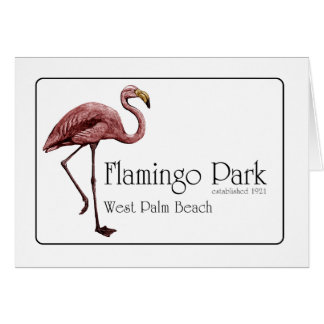 Flamingo Park note card