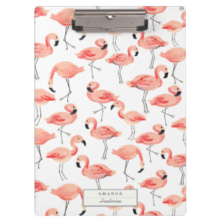 Flamingo Party Clipboard