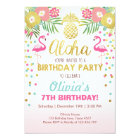 Flamingo party invitation Tropical Birthday luau