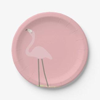 Flamingo Party Paper Plates