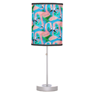 Flamingo party table lamp from my art