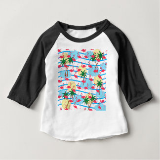 Flamingo pattern baby T-Shirt