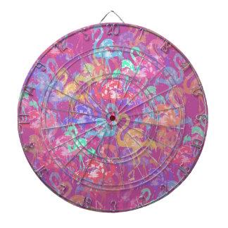 Flamingo pattern dartboard