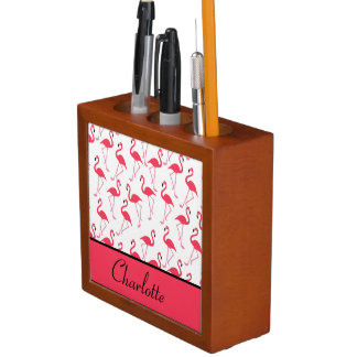 Flamingo Pattern Desk Organizer