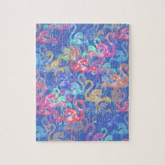 Flamingo pattern jigsaw puzzle