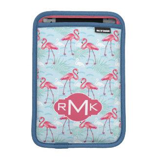 Flamingo Pattern | Monogram iPad Mini Sleeve