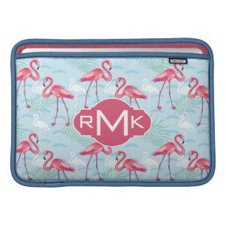 Flamingo Pattern | Monogram MacBook Sleeve