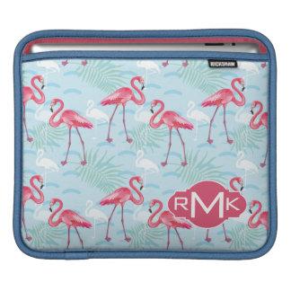 Flamingo Pattern | Monogram Sleeve For iPads