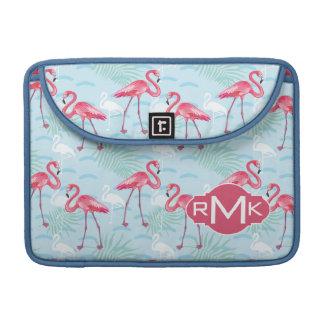 Flamingo Pattern | Monogram Sleeve For MacBooks