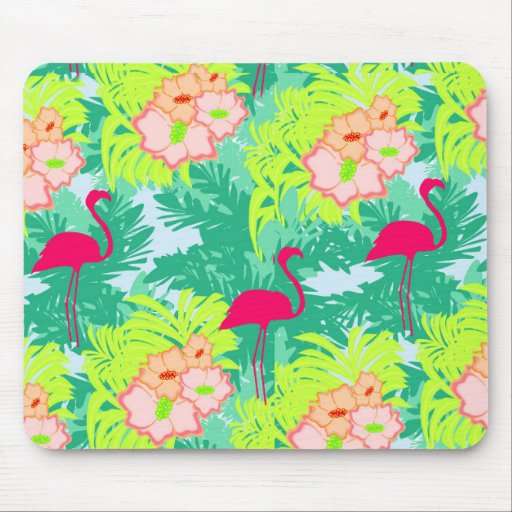 flamingo pattern Mouse pad