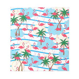 Flamingo pattern notepads