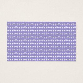 Flamingo Pattern on Purple Business Card