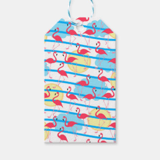 Flamingo pattern pack of gift tags