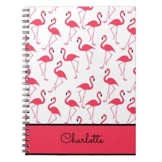 Flamingo Pattern Spiral Notebook