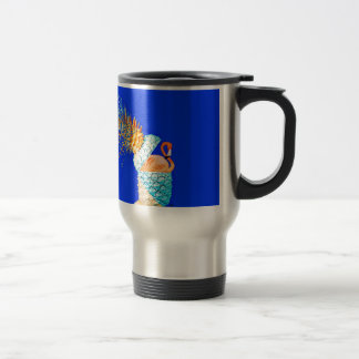 Flamingo Pineapple Travel Mug