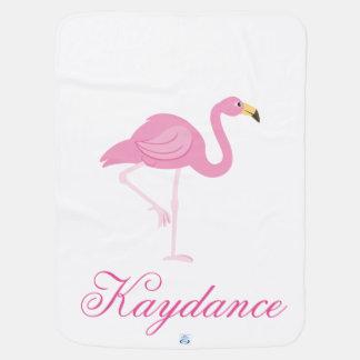 Flamingo & Pink and Paisley Baby Blanket