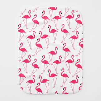 Flamingo Pink Baby Burp Cloth
