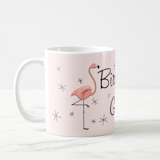 Flamingo Pink 'Birthday Girl!' mug