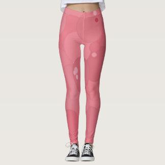 Flamingo Pink Bubbles Leggings
