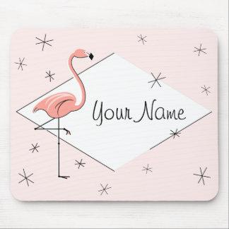 "Flamingo Pink Diamond ""Text"" mousepad"
