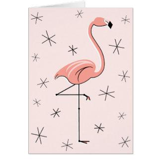 Flamingo Pink Happy Birthday greetings card