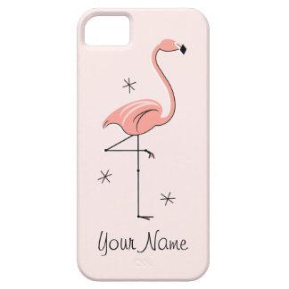 Flamingo Pink 'Name' iPhone 5 case